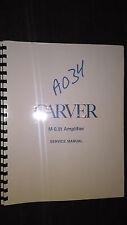 Carver M-0.5t Service Manual original repair book power amp amplifier