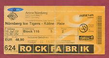 Orig.Ticket   1.Bundesliga  01/02   NÜRNBERG ICE TIGERS - KÖLNER HAIE  !!