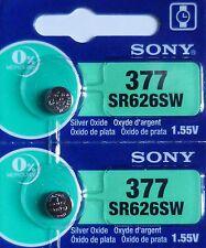 2 PILES SR626SW / SR626 / 377 / 1,55V SONY / ENVOI RAPIDE