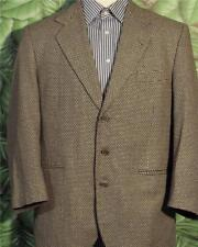 HARDY AMIES Sport Coat Multi Color Silk Wool Viscose 3 Button Men 43R  $795 Rtl