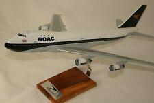 BOAC B 747-100 IN ORIGINAL SPEEDBIRD LIVERY HUGE 1:144 HANDCRAFTED DESKTOP MODEL