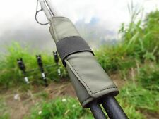 3 x Carp rod straps ties Lead bands for inline leads GREEN