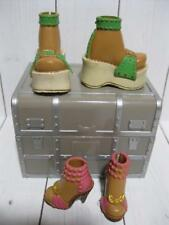 MADISON AA My Scene Barbie Doll Clothes-Lot SHOES-PLATFORM GREEN/PINK SANDALS