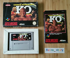 Super Nintendo SNES George Foreman's KO Boxing PAL