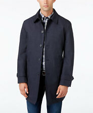 $699 TOMMY HILFIGER Men's BLUE RAIN-COAT TRENCH PEACOAT TOP JACKET SIZE 44R