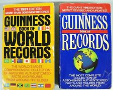 TWO GUINNESS BOOK OF WORLD RECORDS 1991 - 1993