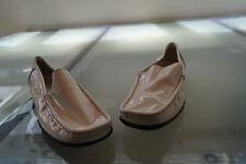 Daniel Hechter Damen Schuhe Mokassins Slipper Gr.6,5 / 40 weiß Lack Leder #48