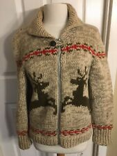 Cowichan Themed Heavy Knit Sweater Handmade Full Zip (One of a Kind)