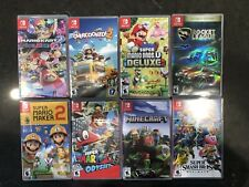 EMPTY Nintendo Switch Cases (NO GAMES INCLUDED) Lot of 8 Mario Super Kart Smash