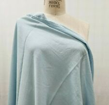100% Cotton Crepe Fabric Light Blue By the Yard light weigh Sheer See Thru
