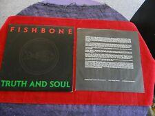 "FISHBONE ""Truth And Soul"" LP Record 1988 Columbia FC 40891 1st Press NM Vinyl!"