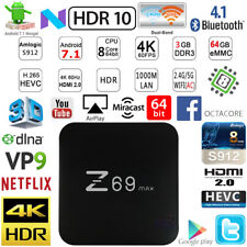 Z69Max S912 Octa Core 3G 64G 4K Android 7.1 TV Media Box PC WiFi HDMI H.265 VP9
