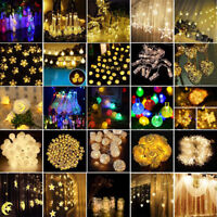 Christmas Fairy String Strip Lights Wedding Xmas Party Outdoor Decor Lamp Bulb