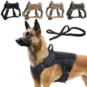 Tactical Dog Harness No Pull Dog Vest or Tactical Dog Harness Set with Leash