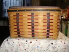 Longaberger Proudly American Small Washday Basket W/Liner & Protector