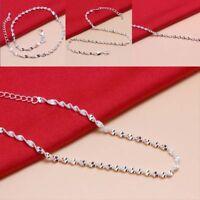 Mode Einfachen Stil Knöchel Armband Frauen Silber Fuß Schmuck Kette Strand # Hot