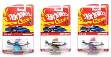 Set of 3 Hot Wheels Classics MADD PROPZ Planes #13 (with Protectors) NEW!
