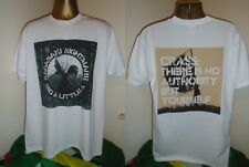CRASS- NAGASAKI NIGHTMARE/ THERE IS NO AUTHORITY  T SHIRT- WHITE -EXTRA  LARGE