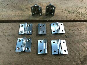 "4 PAIRS 1"" 25mm STEEL BUTT HINGES SMALL BOX DOOR HUTCH DIY  HINGE cupboard"