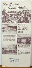 1950's 60's Kit Carson Scenic Circle vintage New Mexico travel brochure map b