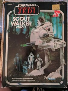 Star Wars ROJ Scout Walker w box return of the jedi