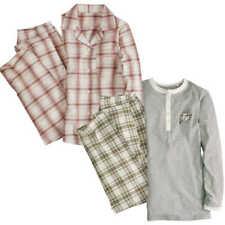 Damen Pyjama Bio Baumwolle Langarm Oberteil + Schlafhose lang Schlafanzug 2-tlg