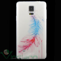 Pellicola+Custodia cover PIUMA per Samsung Galaxy Note 4 N910F case TPU morbida