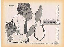 PUBLICITE ADVERTISING 114 1958 BAN LON chemise nylon par Monchy
