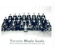 1961 1962 STANLEY CUP WINNERS TORONTO MAPLE LEAFS 8X10 TEAM PHOTO HOCKEY NHL