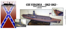 FLAGSHIP MODELS 1/192 Scale CSS Virginia; Civil War Ironclad (18 inches long)
