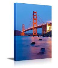 "Canvas Prints Wall Art -Golden Gate Bridge after Sunset, San Francisco-36"" x 24"""