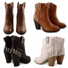 Unbranded Women's High Heel (3-4.5 in.) Block Slip on Shoes
