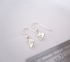 925 sterling silver small ANIMAL CAT DOG PAW charms dangle earrings