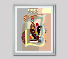 Art Mask Tribal Pattern Home Decor Abstract Ethnic Poster Print Painting 8x10