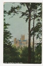 Somerset, Wells Cathedral from Tor Hill, Dawkes & Partridge Postcard, A813