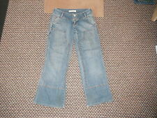 """Bench Relaxed Jeans Waist 28"""" Leg 30"""" Faded Medium Blue Ladies Jeans"""