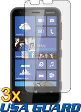 3x Nokia Lumia 620 Clear Lcd Screen Protector Guard Shield Cover Protective Film