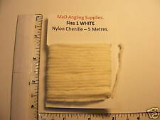 5M di dimensione 1 (3.5 mm di diametro) IN NYLON ciniglia in bianco per volare la vendita abbinata