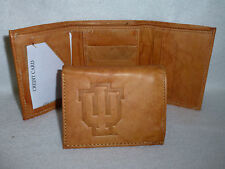 INDIANA HOOSIERS  Leather TriFold Wallet NEW  tan z  lw