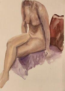 Female Nude Original Watercolor Painting