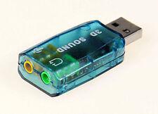 3D USB Audio 1.1 Speaker Mic Adapter Surround Sound Card 7.1 Laptop Notebook