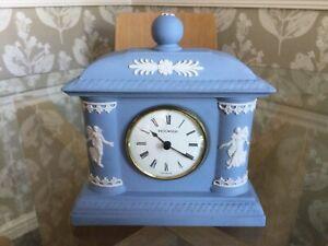 Lovely Wedgwood Jasper Ware Blue Dancing Hours Mantle Clock