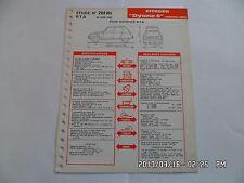 FICHE TECHNIQUE DE RTA CITROEN DYANE 6 MODELE 1968 N°266 BIS 06/1968         G12
