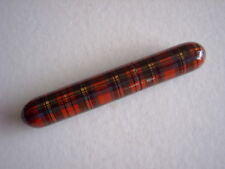 TARTAN WARE NEEDLE CASE - 9.5 cms LONG - VICTORIAN