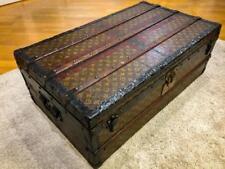ancienne malle trunk LOUIS VUITTON MONOGRAM CABINE  STEAMER TRUNK c.1920