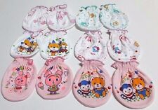 6 PAIRS 100% COTTON GLOVES MITTENS FOR NEW BORN BABY ANIMAL PRINT GIRLS KIDS