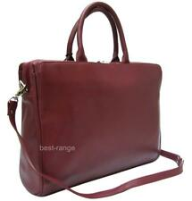 """Visconti Womens Large Briefcase 13"""" Laptop Bag in Burgundy or Black 18427 Red"""