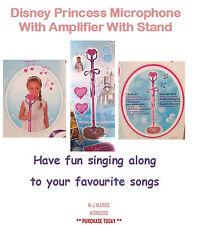 DISNEY Princess MICROFONO CON AMPLIFICATORE CON SUPPORTO PER BAMBINI BAMBINE PLAYSET