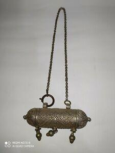 Antique Yemeni high grade silver Bedouin Jewish Handmade necklace
