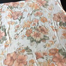 Estella Euro Pillow Sham Mako-Jersey Germany Orange Apricot Florals 29 X 29